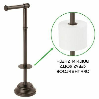 mDesign Plastic Roll Stand Dispenser, 3 Rolls Bronze