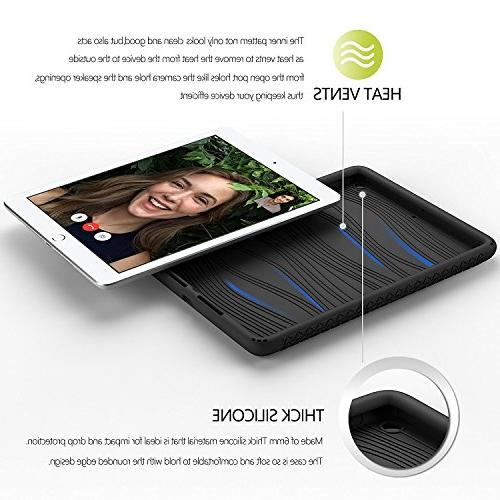 Poetic iPad Inch With Silicone and Sound-Amplification with Portable Tablet for iPad Black