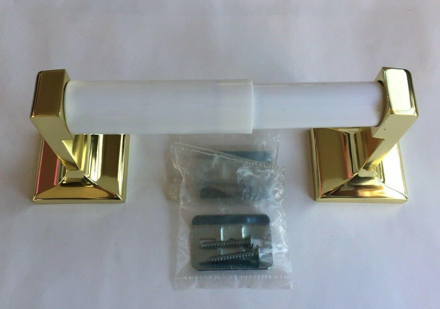 polished brass wall toilet paper holder new