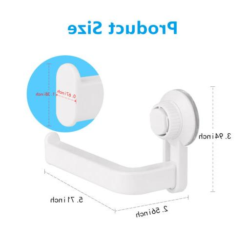 Punch Toilet Roll Holder Suction Hook Bathroom Kitchen