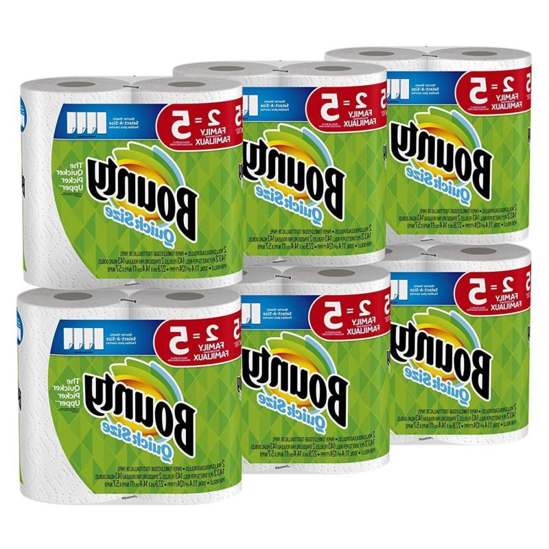Bounty Quick-Size Paper Towels |12 Family Rolls | White | Fr
