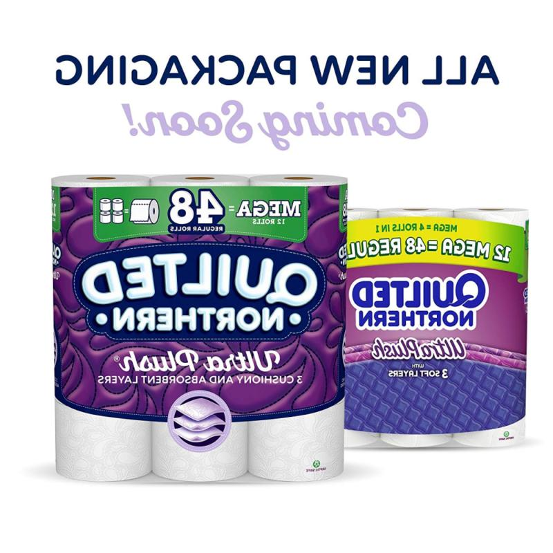 Quilted Northern Ultra Plush Toilet Paper, Rolls, = Regular, 3