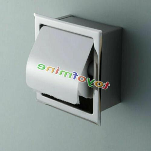 Recessed Toilet Tissue Holder Stainless Roll