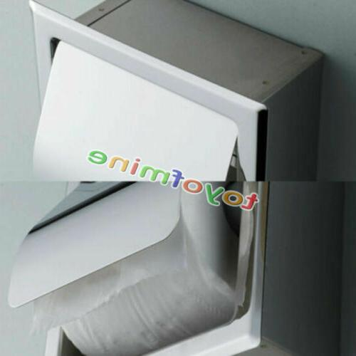 Recessed Toilet Holder Steel Roll