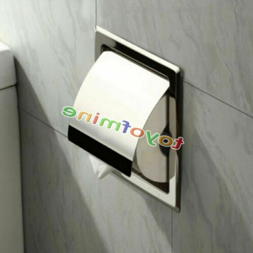 recessed toilet tissue paper holder towel stainless