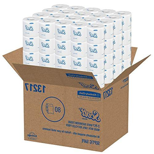 Scott Essential Recycled Fiber Paper 2-PLY 80 Rolls / 506 Sheets
