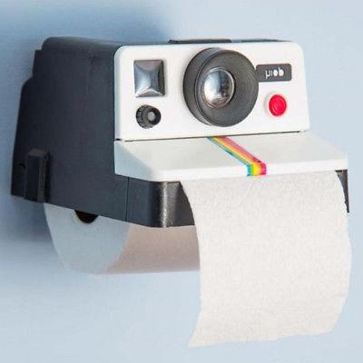 Retro Camera Shaped Toilet Paper Roll Holder Cute Home Deco