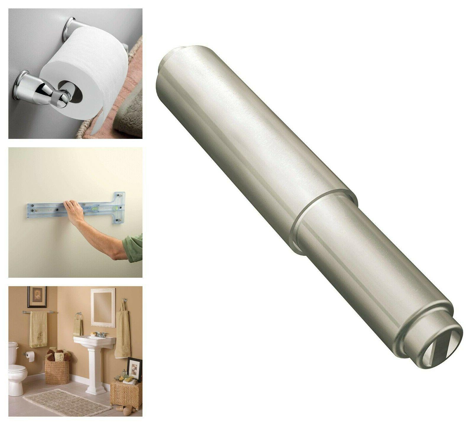 satin nickel finish toilet paper roller toilet