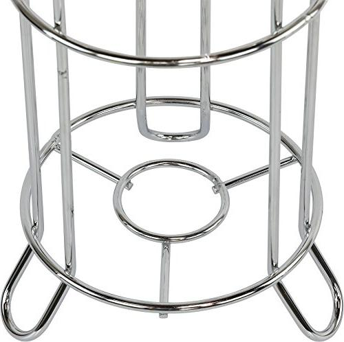 SImpleHouseware Bathroom Tissue Paper Stand, Chrome Finish