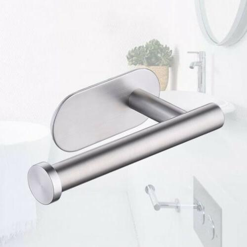 Stainless Steel Toilet Paper Roll Holder Wall Mount Self Adh