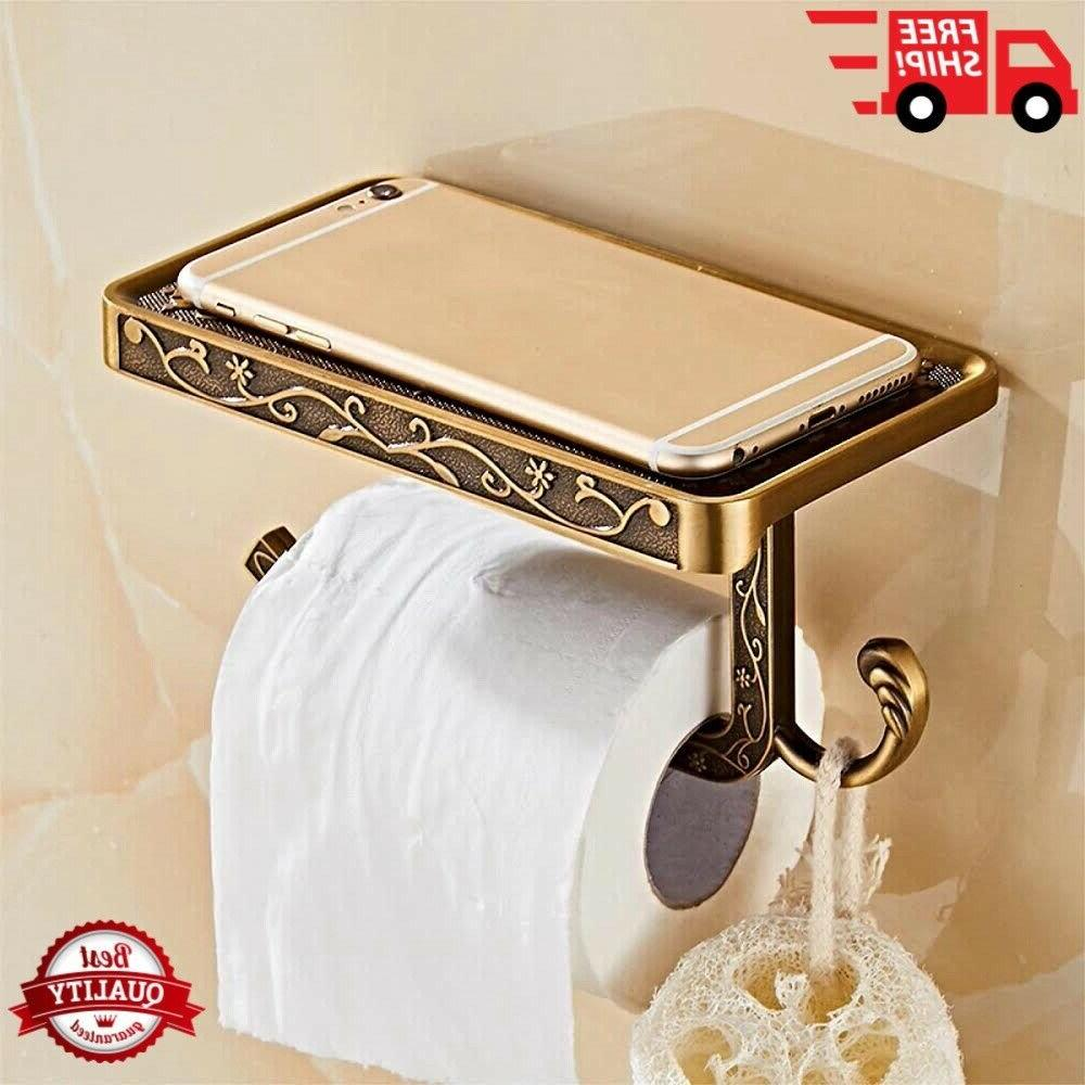 stainless toilet paper and bathroom towel holder