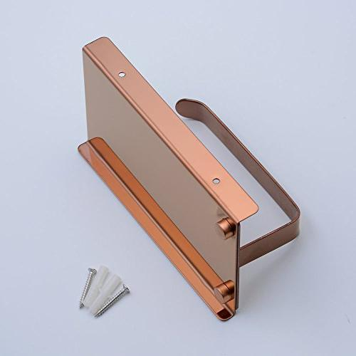 Steel Paper Holder, Stainless Steel with Mobile Phone Shelf,