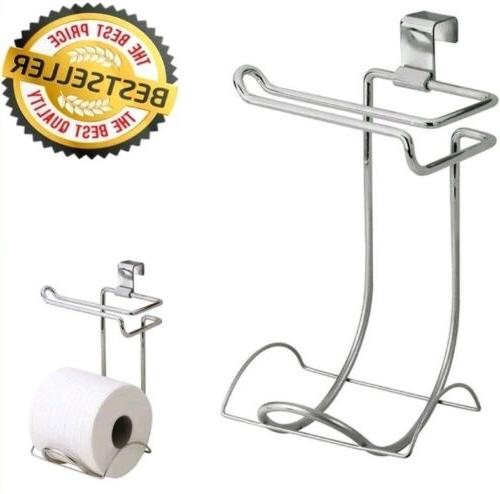Tank Toilet Paper Holder 2 Roll Bathroom Storage Organizer S