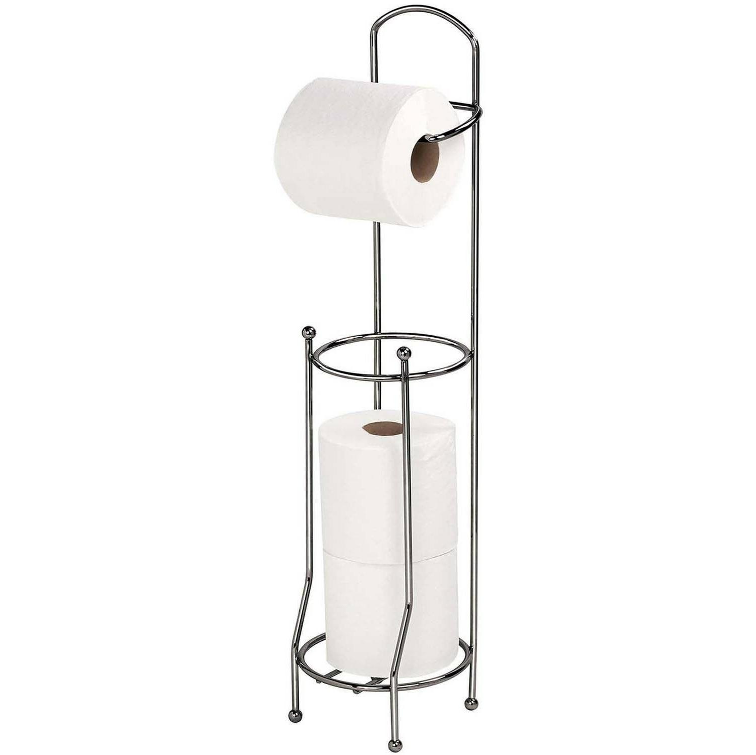 Toilet Roll Holder Stand Free Standing Storage