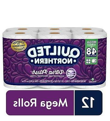 Quilted Bathroom Tissue Toilet Paper  Septic Safe Wipes