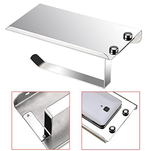 Toilet Stainless Steel Holder Mobile Phone Storage Mount Paper Towel Tower