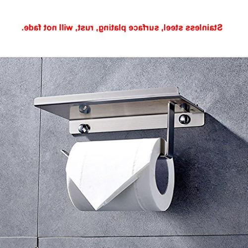 Toilet Holder, Sumnacon Stainless Holder with Storage - Wall Mount Towel Dispenser/Hooks/