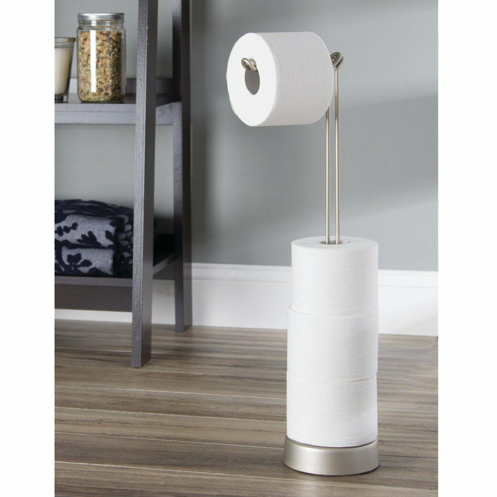 Toilet Paper Holder Bathroom Lavatory Pedestal Stainless Ste