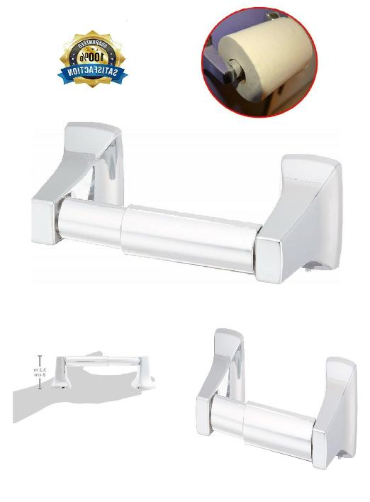 toilet paper holder chrome wall mount storage