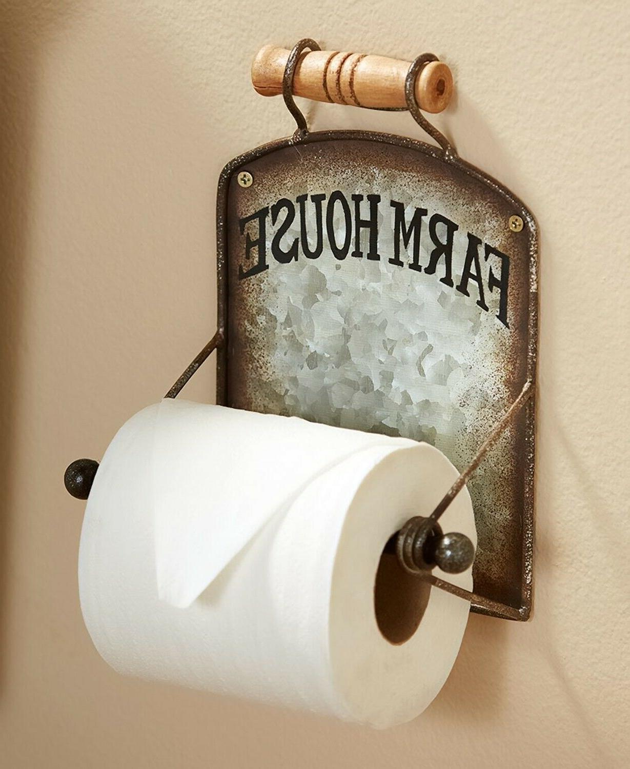 toilet paper holder farmhouse chic country rustic