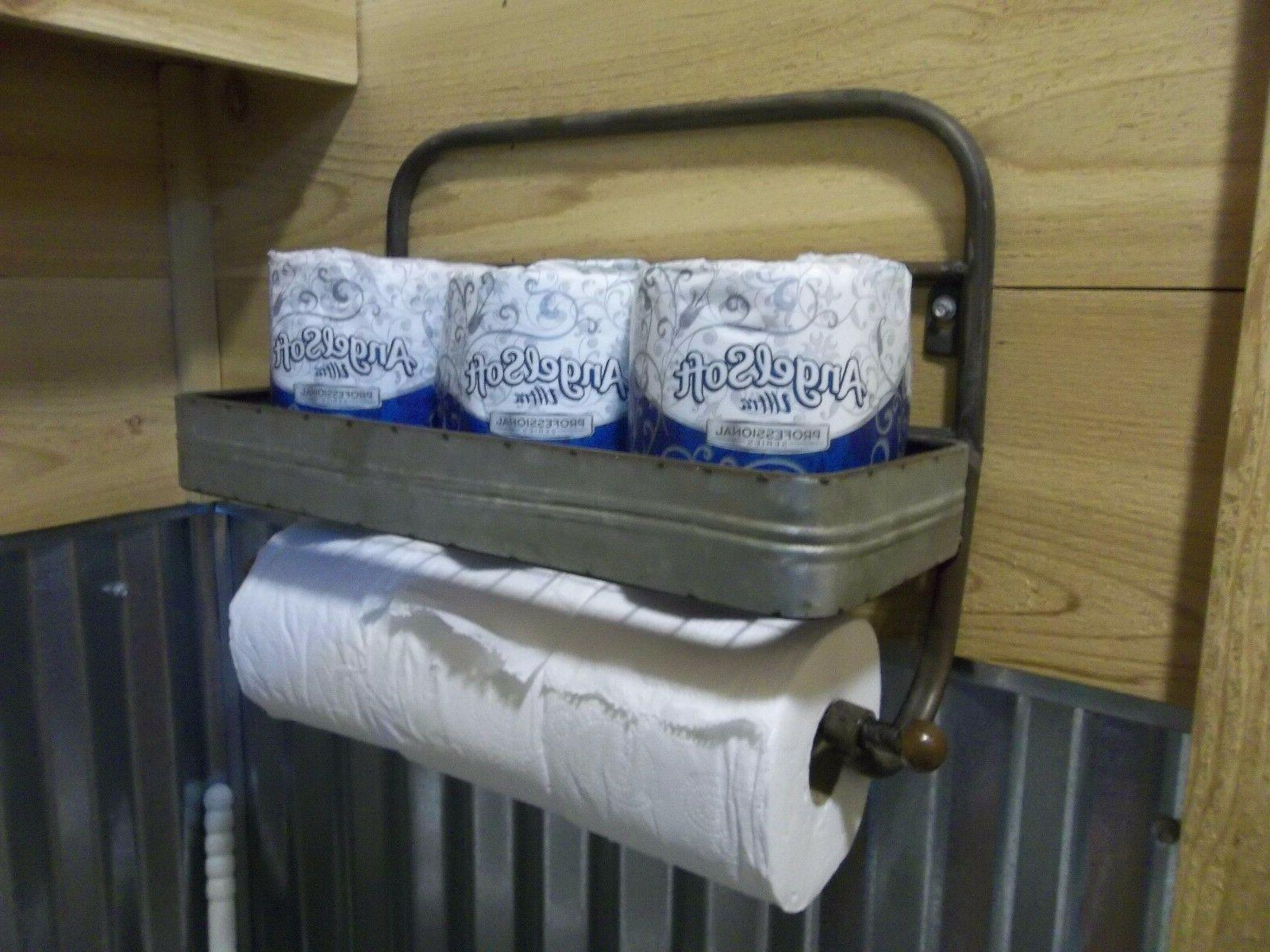 toilet paper holder hold 6 rolls rustic