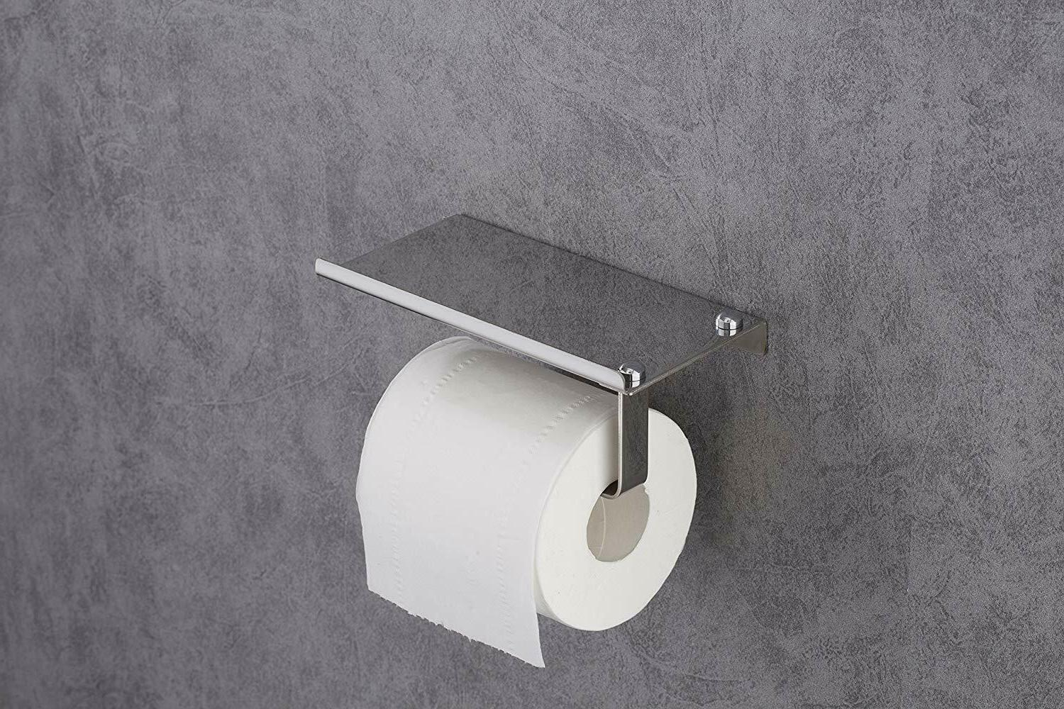 1-Toilet Holder with Mobile Storage Holders Wall Mounted