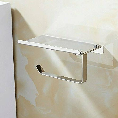 Toilet Holder with Storage Shelf Stainless Steel Paper Roll