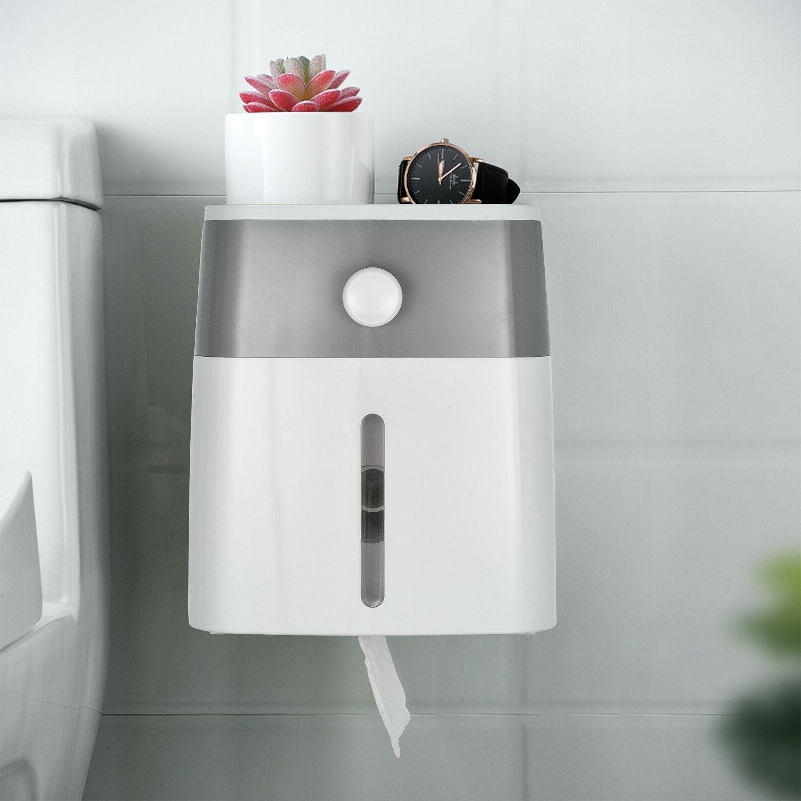 Toilet Paper Roll Holder Adhesive Wall Mount Facial Tissue S