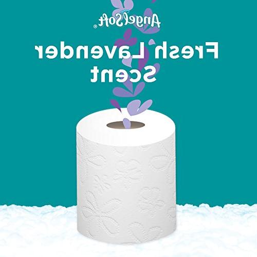 Angel Soft Toilet Lavender Scent, Rolls, 12 Regular