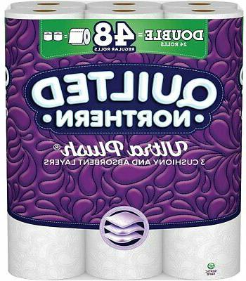 ultra plush 24 double rolls toilet paper