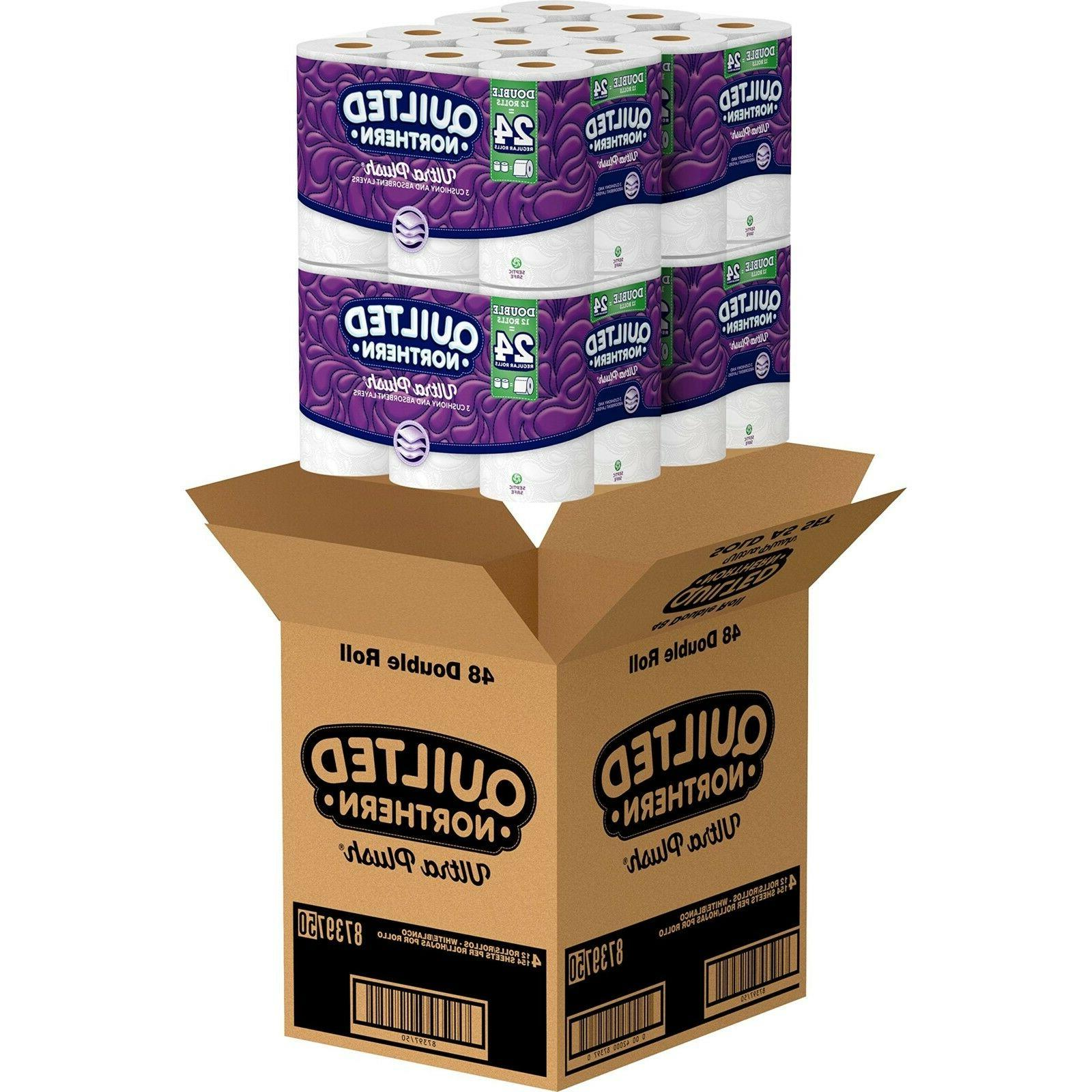 ultra plush 3 ply toilet paper 48pack