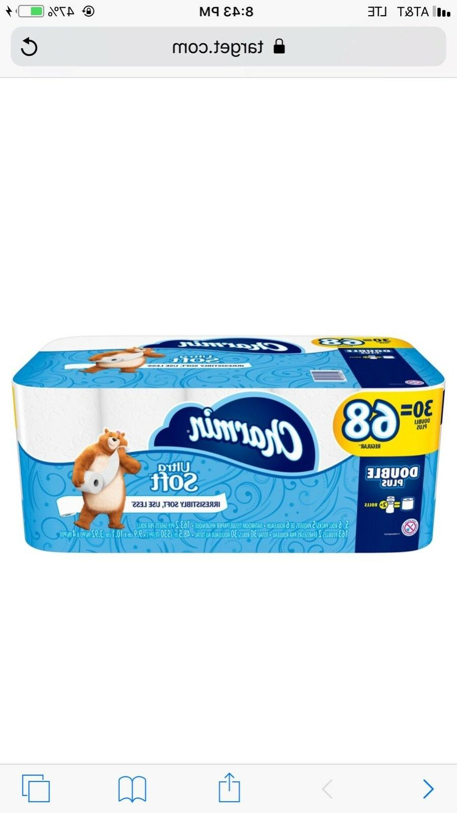 ultra soft toilet paper 30 double rolls