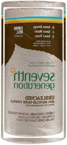 Seventh Generation Unbleached Paper Towels, 100% Recycled Pa