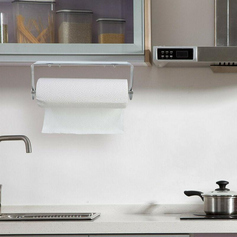 under cabinet paper towel holder adhesive stainless