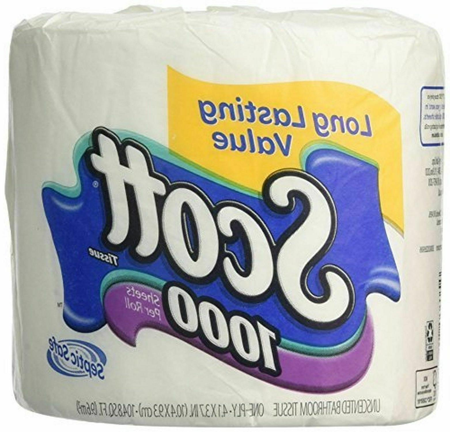 Unscented Bathroom Tissue Toilet Paper Bath Wipes Multipurpo