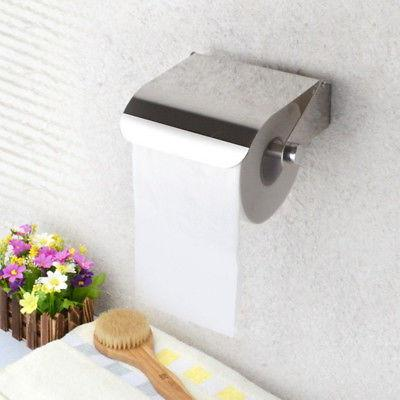 US  Bathroom Stainless Steel Toilet Paper Roll Holder Toilet