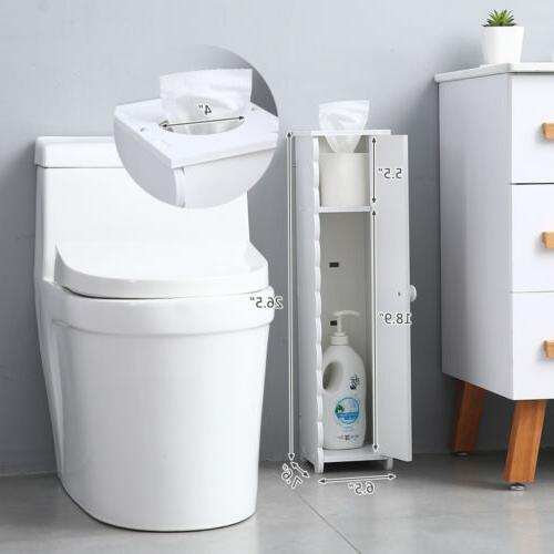 US Stock Toilet Paper Roll Holder Storage Cabinet Free