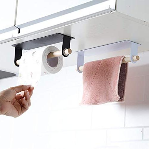 MaxFox Adhesive Iron Seamless ,Nail-Free Tissue Cabinet for Bathroom Accessories
