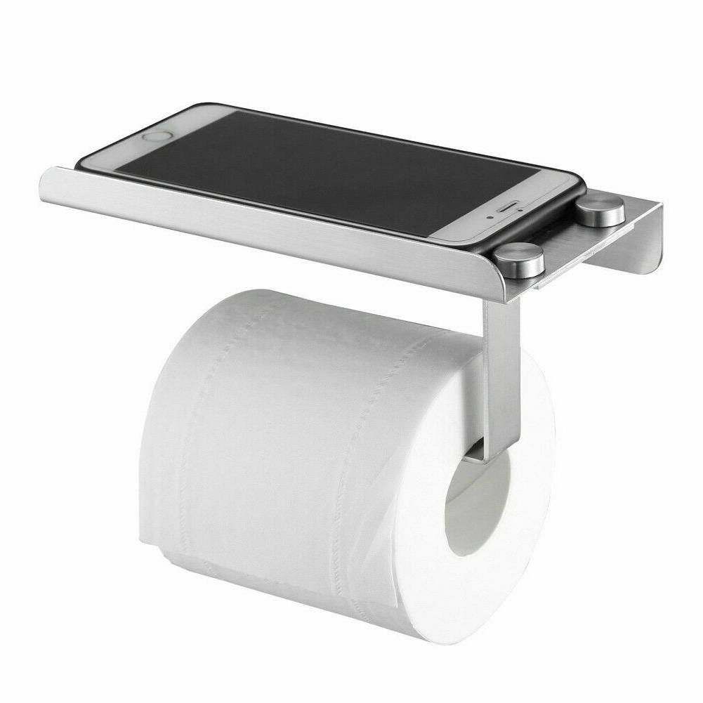 Wall Bathroom Toilet Paper Phone Holder Tissue