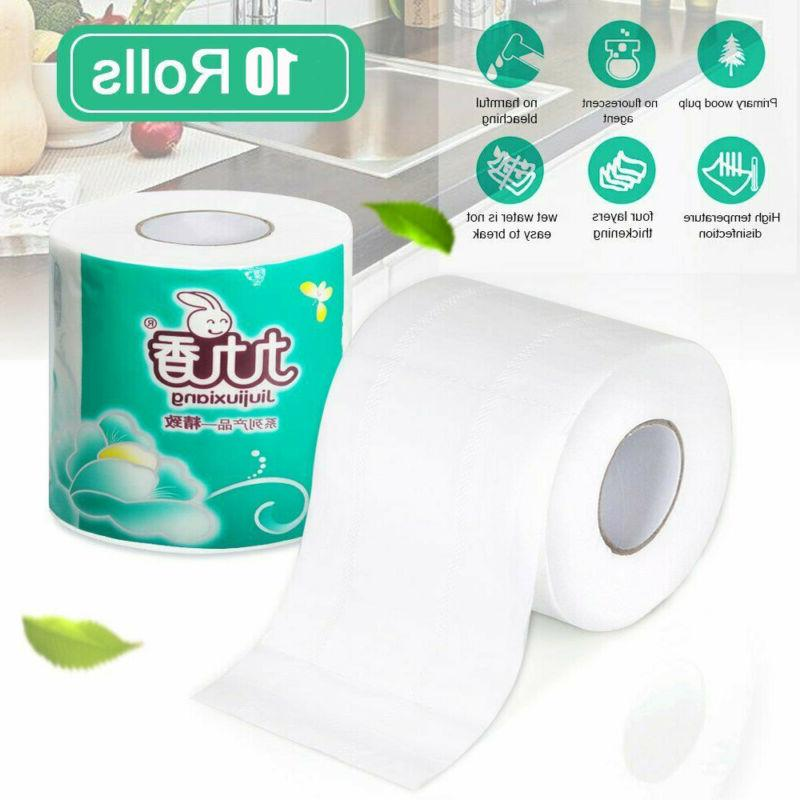 10 Household Bathroom Tissue 4 Ply