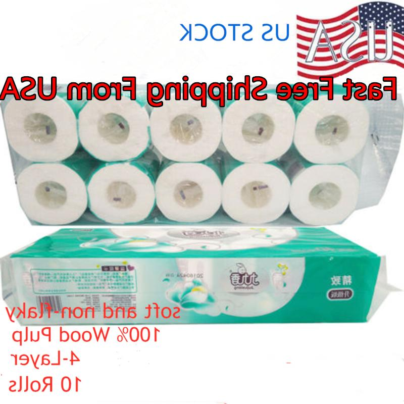white soft toilet papers 10 rolls household