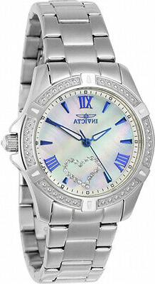 Invicta Women's Angel Quartz 100m Mother of Pearl Stainless