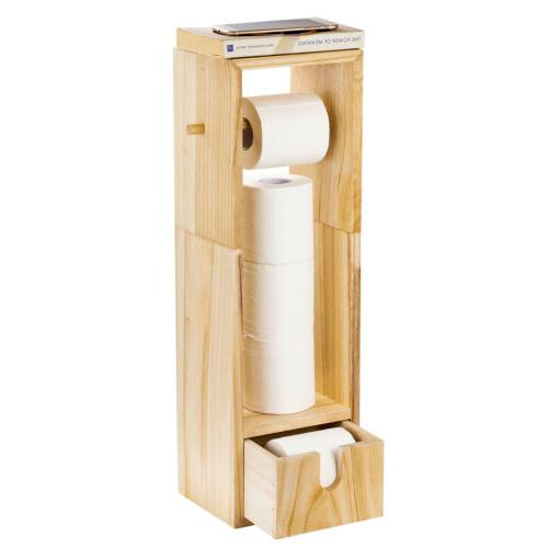 wood houseware bathroom toilet tissue paper storage