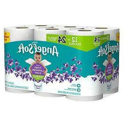 Angel Soft Lavender Toilet Paper 12 Double Rolls = 24 Regula