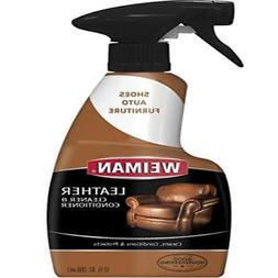 Weiman Leather Cleaner & Polish, Spray, 12 oz