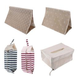 Linen Tissue Bags Home Bathroom Toilet Paper Napkin Holder C
