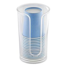 mDesign Modern Plastic Compact Small Disposable Paper Cup Di
