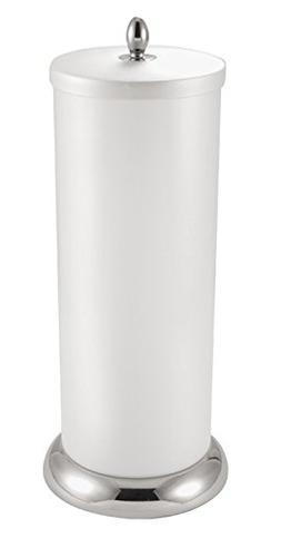 mDesign Plastic Free Standing Toilet Paper Holder Canister w