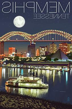 Memphis, Tennesseee - Skyline at Night