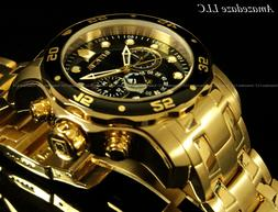 Invicta Men Pro Diver Scuba Chrono 18KT Gold Plated Stainles